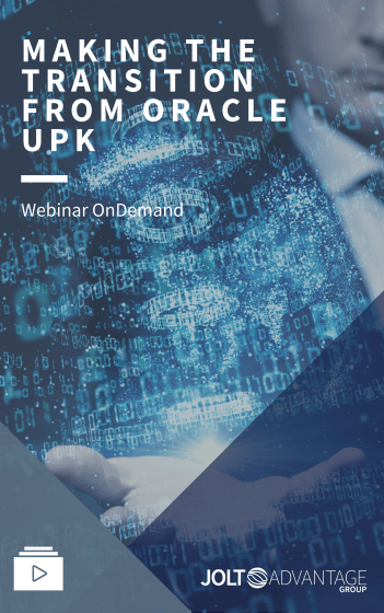Webinar - Making the transition from Oracle UPK - Cover