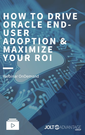 Webinar Cover - HOW TO DRIVE ORACLE END-USER ADOPTION & MAXIMIZE YOUR ROI